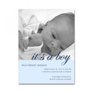 Libretto Script Blue Birth Announcement