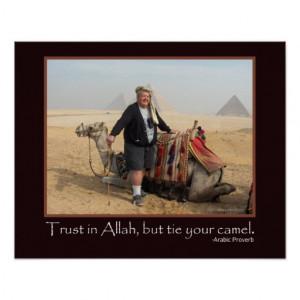 Funny Arabic Proverb Egypt Pyramids Camel Photo Print