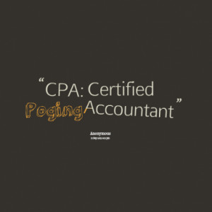 CPA: Certified Poging Accountant