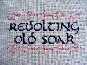 Vicar of Dibley quote!!! #stitching #tvshow