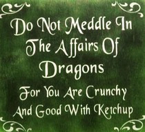 Funny Dragon Quote - Do not meddle in the affairs of dragons, for you ...