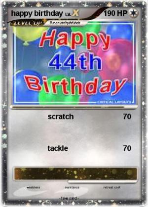 Pok Mon Happy Birthday...