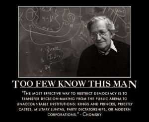 Noam Chomsky on losing democracy