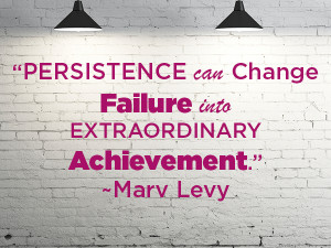 Persistence can change failure into extraordinary achievement ...