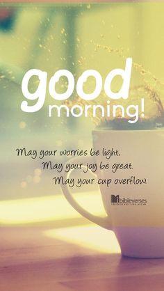 Good Morning Sunshine! More