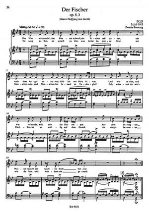 Partitura Para Voz Franz Schubert Lieder Band Hohe Singstimme