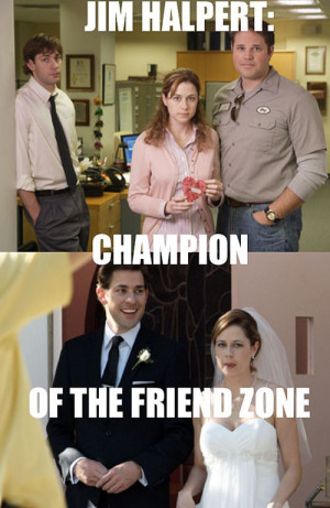 funny Jim Pam The Office friend zone