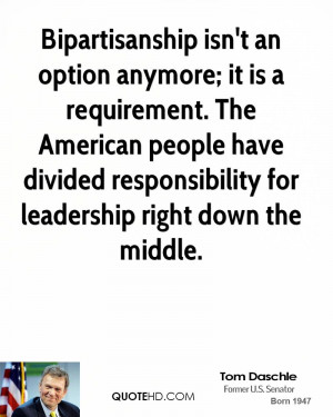 ... have divided responsibility for leadership right down the middle
