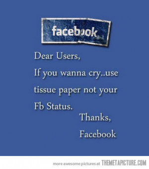 Funny Pictures For Facebook With Quotes Funny facebook users quote