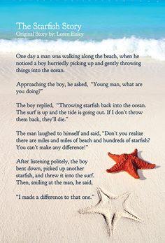 Mrs. Mathis' Homeroom~: The Starfish Story More