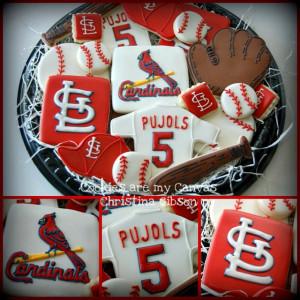 St.Louis Cardinals baseball cookies