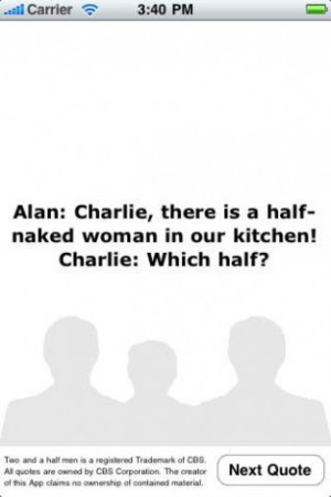 two and a half men quotes this app contains more than 600 of the best ...