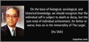 , sociological, and historical knowledge, we should recognize ...