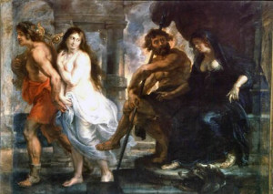 ... Eurydice back up with me. [ Orpheus and Eurydice by Peter Paul Rubens