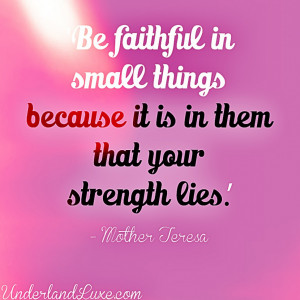 Faith Quotes About Life And Hope: Mother Teresa On Faith Quote In Pink ...