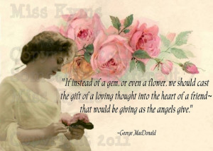 Pink Roses and a Lovely Woman,Friendship Giving quote, Altered Digital ...