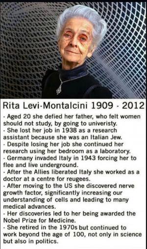 Rita Levi Montalcini 1909-2012 @ Af 6/1/13