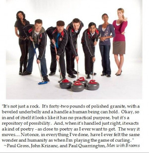 Men with Brooms on #Curling #winterolympics #quotes