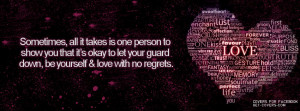 It's Okay To Let Your Guard Down Facebook Covers