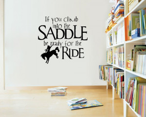 Saddle Up Horse Rider Western Wall Quote Art Decal- Say Quote Word ...