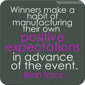 ... Manufacturing Their Own Positive Expectations In Advance Of The Event