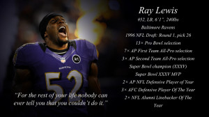 Baltimore Ravens Ray Lewis Quotes