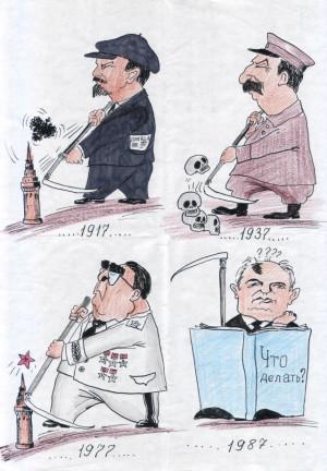 Soviet Union Political Cartoon