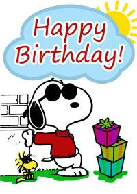 snoopy birthday cards free | Snoopy Birthday Card - Print it now More