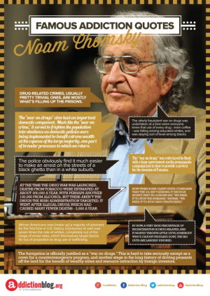 "The ""War on Drugs"" Noam Chomsky Quotes (INFOGRAPHIC)"
