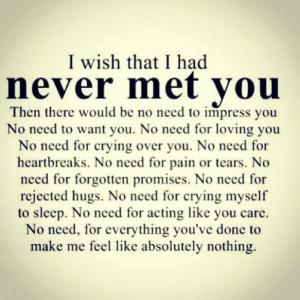 Sometimes I wish...