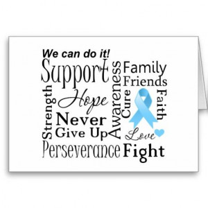 Prostate Cancer Supportive Words Greeting Card