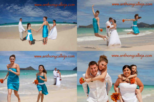 Vow Renewal Photos - Waimanalo Beach, Oahu Hawaii