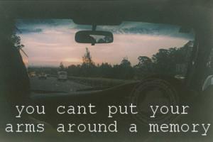 Hug Quote: Around A Memory…