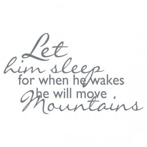 ... , Quotes, Wall Decals, Kids Room, Boys, Moving Mountain, Baby, Sleep