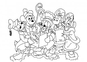 this Disney Christmas Carols Coloring Sheet Color Pages Pinterest ...