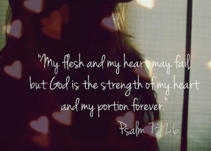 Bible Verse OTD: God Is My Strength