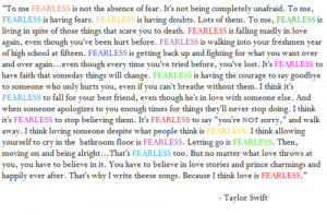 Taylor Swift Defines What Fearless Means To Her