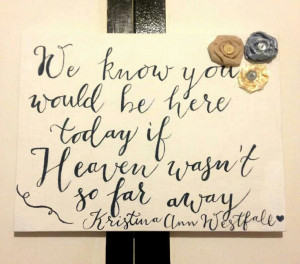 painted this for my reception in honor of my fiancees late mother ...