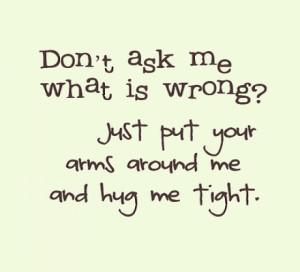 all i need is a hug
