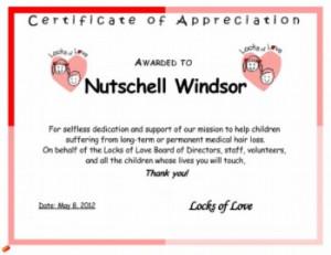 Appreciation Certificate Quotes
