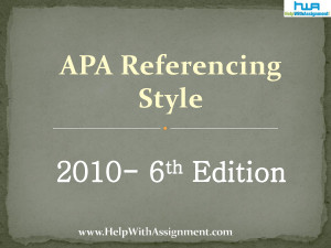 Apa 6th Edition Free Online Apa Format 6th Edition Apa 6 Block