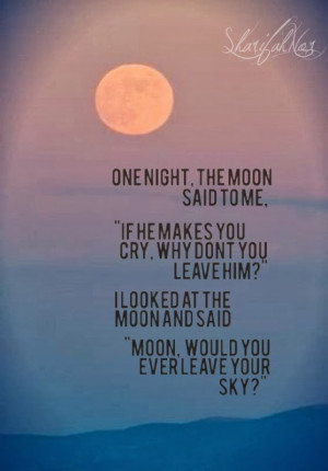 one night the moon said to me