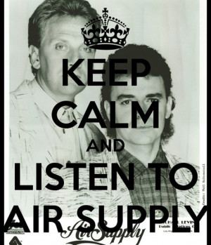 pic of Graham and Russell version of Keep calm and listen to Air ...