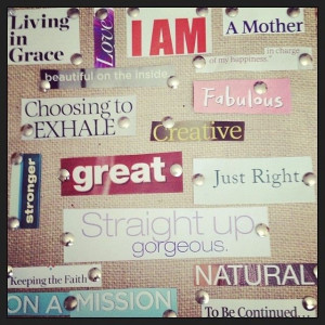 vision board pictures and quotes