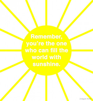 Thursday Thoughts - Fill the world with sunshine
