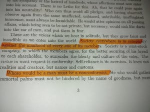 Self Reliance Quotes Emerson Self reliance by ralph waldo