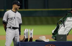 Derek Jeter's Retirement Tour Began With Yankees-Branded Boots