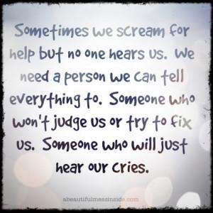 You Scream For Help - depression-help Photo