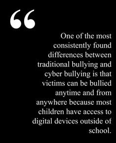 and the victims never have a safe haven. Argument: As this quote ...