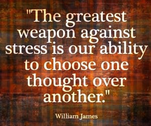 the greates weapon against stress is... #mindfulness #quote